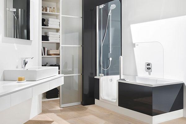 Twinline-Duschbadewanne - Schlösser Installationen